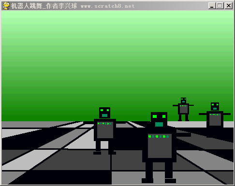 pygame robot dance animation机器人跳舞