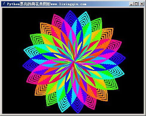 Python漂亮的荷花类图形,本程序使用了tracer命令,不会演示绘画过程,所以绘画速度极快www.lixingqiu李兴球