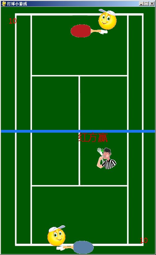 Python 2D双人乒乓球小游戏
