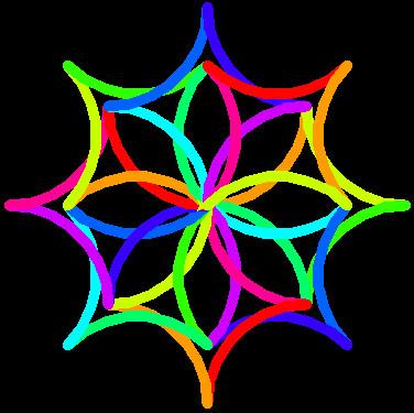 python彩花图案制作