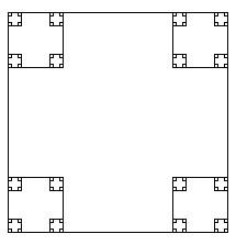 Python递归画正方形