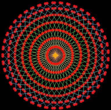 python配音彩花图案